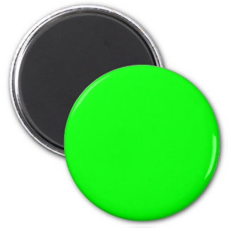 00FF00 Lime Green 6 Cm Round Magnet