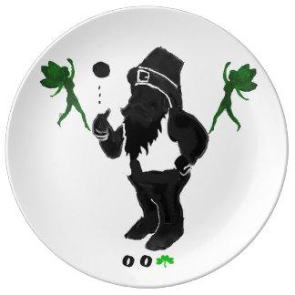 00Shamrock - Leprechaun Porcelain Plate