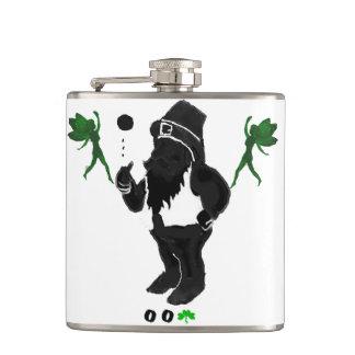 00Shamrock - Leprechaun Vinyl Wrapped Flask
