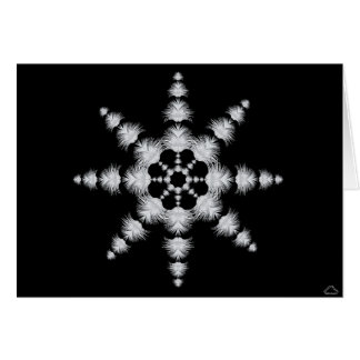 0101 Peacock Snowflake 1, Note Card