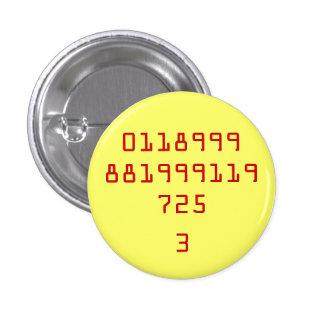 0118999881999119725, 3 3 CM ROUND BADGE