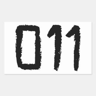 011 RECTANGULAR STICKER