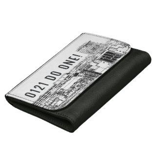 0121 Do One on leather wallet, Birmingham Skyline Wallets For Women