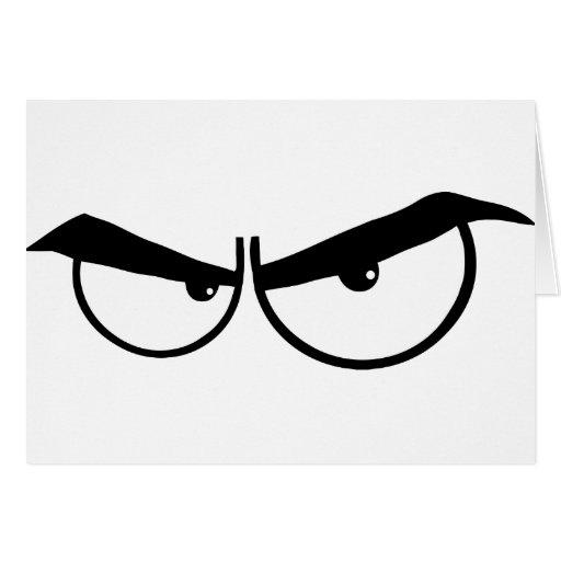 0162-Angry-Cartoon-Eyes ANGRY CARTOON EYES Cards