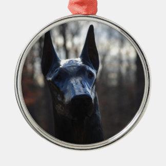 0166 Service Dog.JPG Metal Ornament