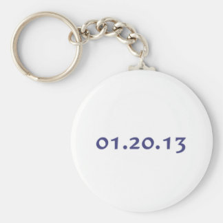 01.20.13 - Obama's last day as President Basic Round Button Key Ring