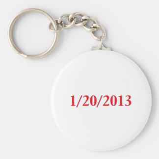 01/20/2013 - Obama's last day as President Basic Round Button Key Ring