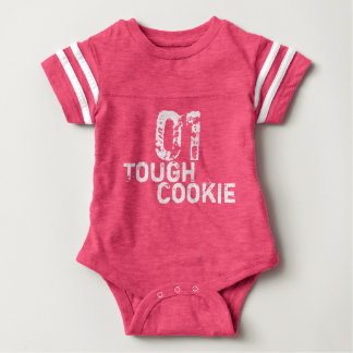 01 Tough Cookie Funny/Get Well Football Jersey Baby Bodysuit