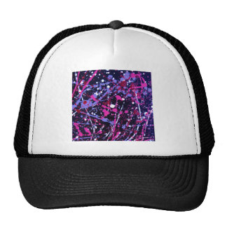 020.JPG Abstract Paint Splatter purple/blue violet Mesh Hat