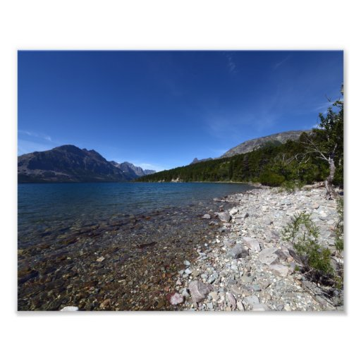0213 8/12 St. Mary Lake in Glacier National park. Photographic Print