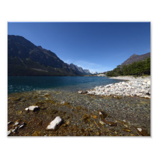 0226 8/12 ST. Mary Lake in Clacier Park. Photographic Print