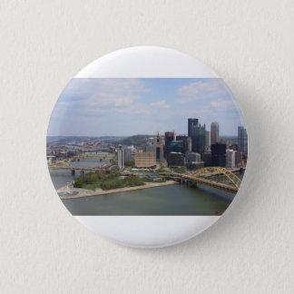 0230 Pittsburgh (Golden Triangle).JPG 6 Cm Round Badge