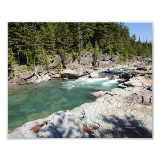 0296 8/12 Mc Donald Falls in Glacier Park. Photo Print