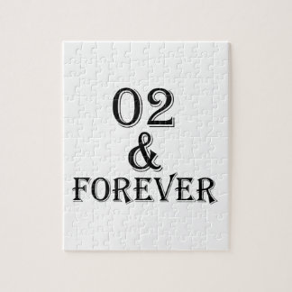 02 And  Forever Birthday Designs Jigsaw Puzzle