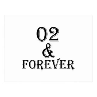 02 And  Forever Birthday Designs Postcard