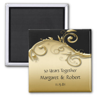 02 Gold and Black 50th Anniversary  Magnet