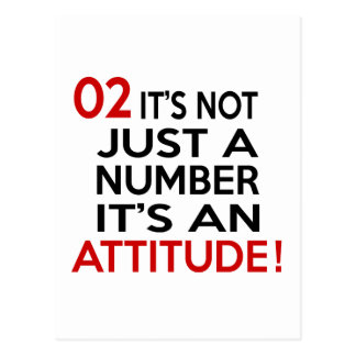 02  it's not just a number it's an attitude postcard