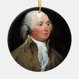 02 John Adams Ceramic Ornament