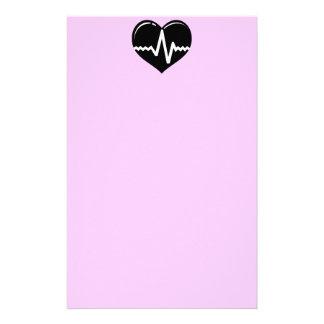 030719 MEDICAL HEART HEARTBEAT SYMBOL LOGO GRAPHIC CUSTOM STATIONERY