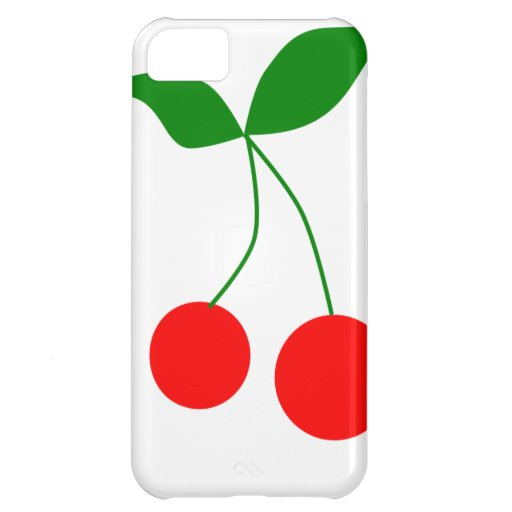 031 RED CARTOON RED CHERRIES CLIPART VECTOR GRAPHI CASE FOR iPhone 5C