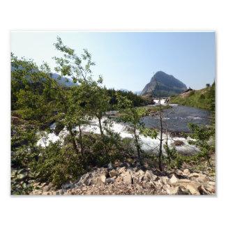 0359 8/12 Swiftcurrent Falls in Glacier Park. Photo Art