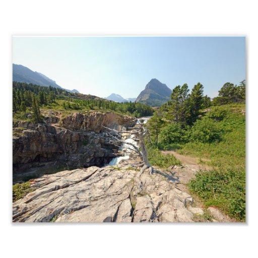 0374 8/12 Swiftcurrent falls in Glacier Park. Art Photo