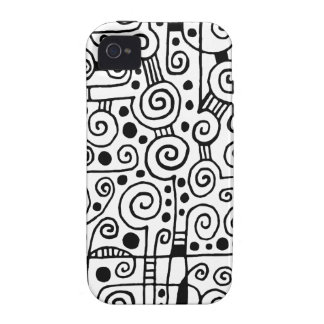 040512 - Black on White iPhone 4/4S Covers