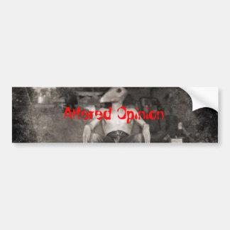 040-hurt, Altered Opinion Bumper Sticker
