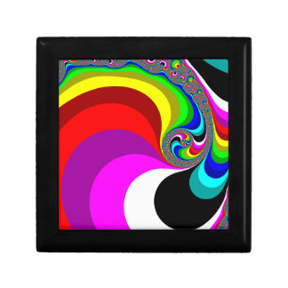 040 Obama - Fractal Art Small Square Gift Box