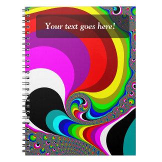 040 Obama - Fractal Art Spiral Notebooks