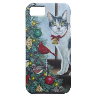 0417 Christmas Cat iPhone 5 Cases