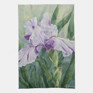 0440 Purple Iris Tea Towel