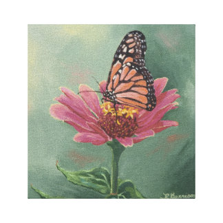 0465 Monarch Butterfly Wrapped Canvas Print