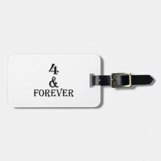 04 And  Forever Birthday Designs Luggage Tag