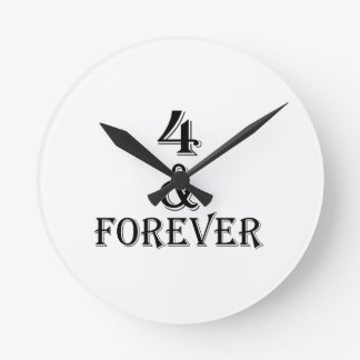 04 And  Forever Birthday Designs Round Clock