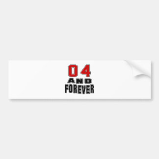 04 birthday designs bumper stickers