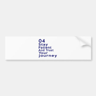 04 Birthday Designs Bumper Sticker
