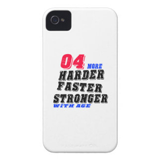 04 More Harder Faster Stronger With Age iPhone 4 Case-Mate Case