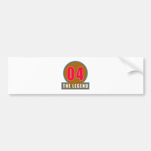 04 The Legend Birthday Designs Bumper Sticker