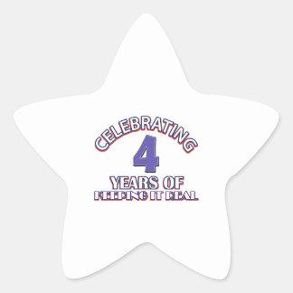 04 year birthday gifts star sticker