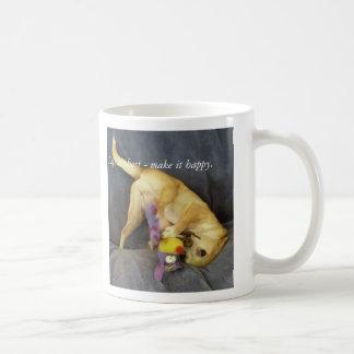 053, Life is short - make it happy. Coffee Mug