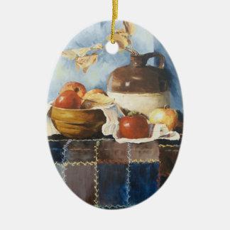 0541 Apples & Crockery on Quilt Ornament