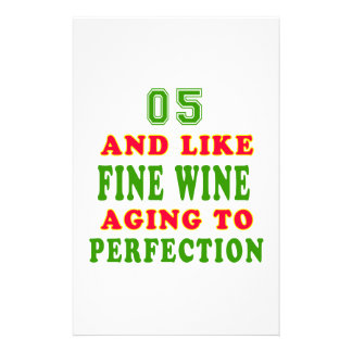 05 and like fine wine birthday designs stationery