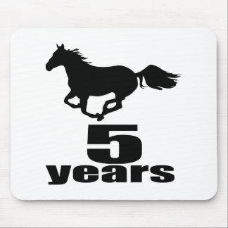 05 Years Birthday Designs Mouse Pad