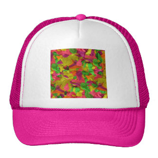 071 COLORFUL NEON BALLOONS PARTY TEMPLATE BACKGROU TRUCKER HATS