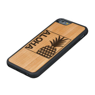 073 ALOHA CARVED CHERRY iPhone 6 BUMPER CASE