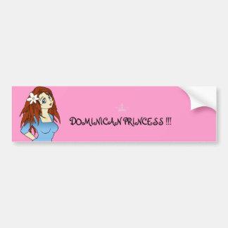 079, crown, DOMINICAN PRINCESS !!! Bumper Sticker