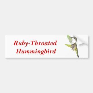 07-20-06 Hummingbirds0033ac, Ruby-Throated Humm... Car Bumper Sticker