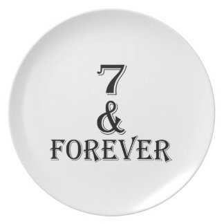 07 And  Forever Birthday Designs Plate