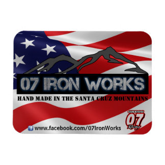 """07 Iron Works """"Old Glory"""" Gregg Racing Magnet"""